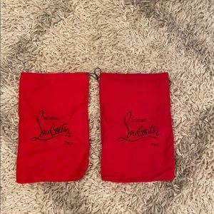 Christian Louboutin shoe dust bags